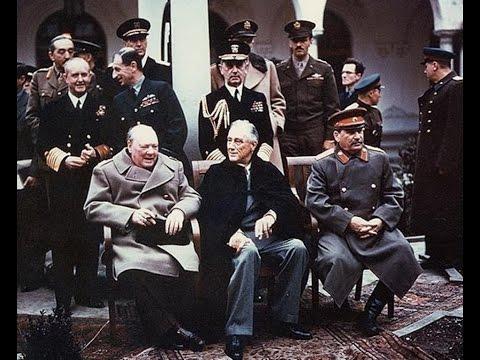 Ялта, Крым, встреча глав стран победитей - Сталин, Рузвельт, Черчиль 1945 (Ялтинская конференция)