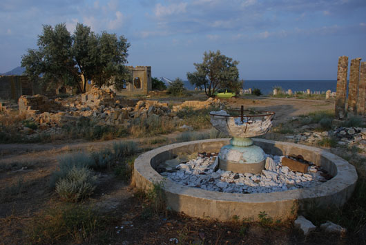 Остатки фонтана