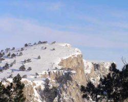красивый вид плато зимо