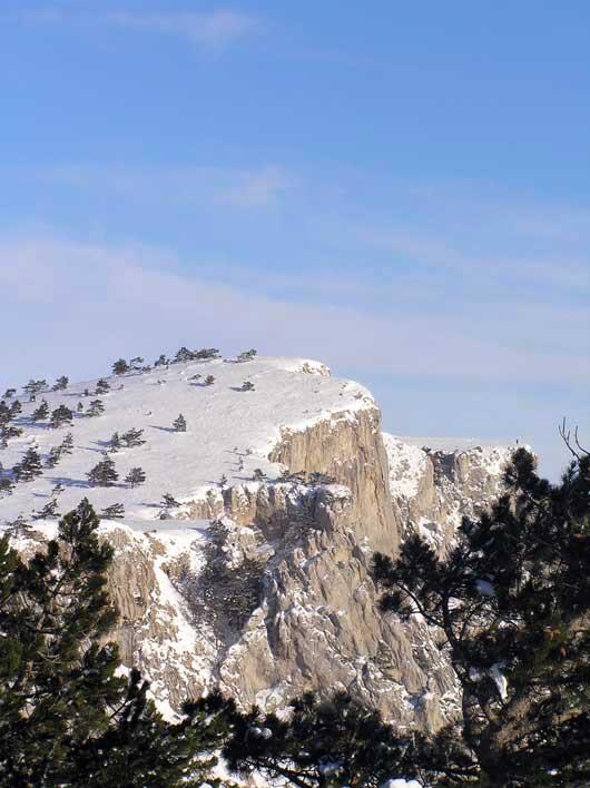 красивый вид плато зимой