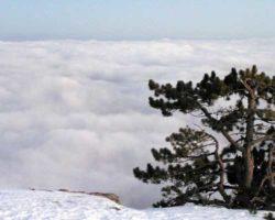 Высокая облачность на плато Ай-Петри