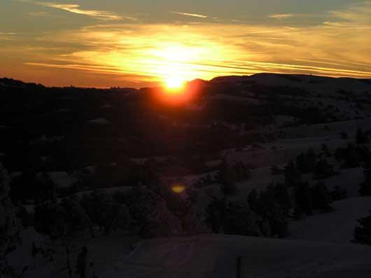 закат на плато Ай-Петри