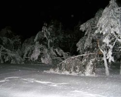 Зимняя ночь на плато Ай-Петри