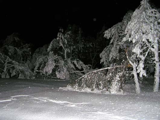 Зимняя ночь на плато Ай-Петри,