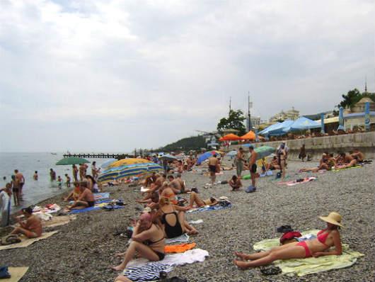 городской пляж Ялты