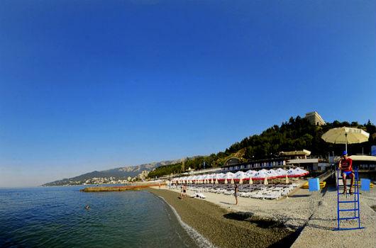 пляж гостиницы Ялта