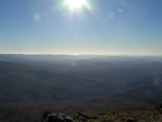 Красивый пейзаж с горы