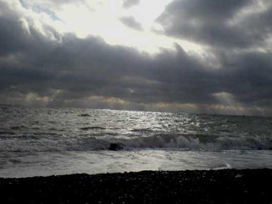 Зимний вид моря