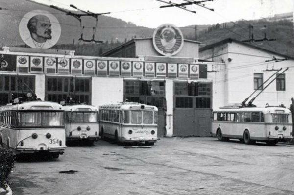 троллейбусный парк Ялты