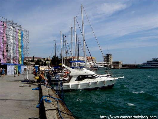 стоянка яхт и катеров