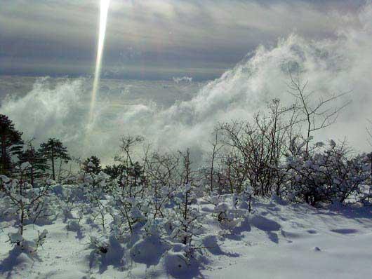 прогулка зимой на Красный камень