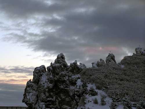 Зима на плато Ай-Петри Крым