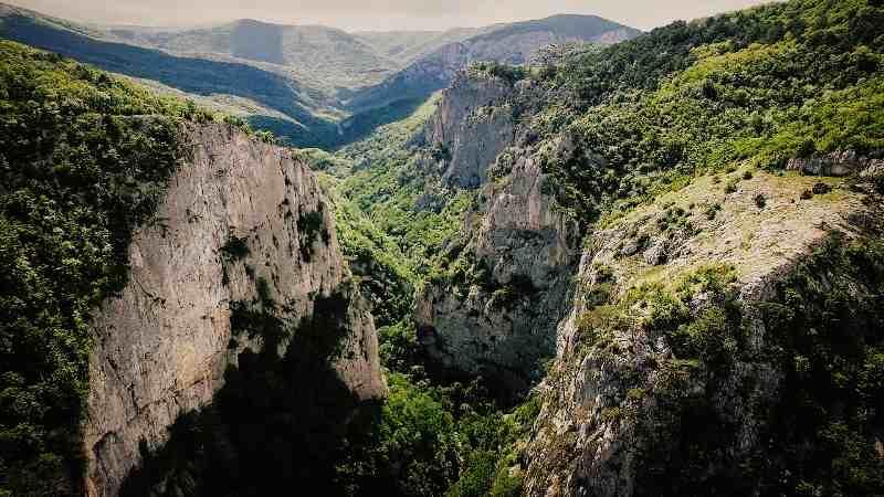 Вид Большого каньона в Крыму
