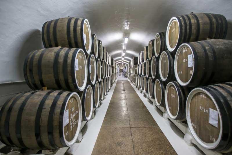 Подвалы массандровского винзавода