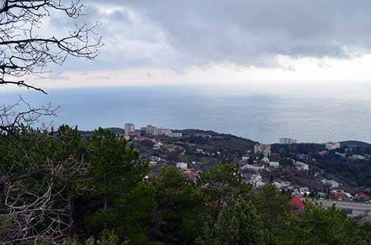 Вид с гор на Никиту