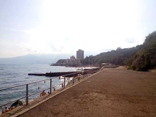 пляж посёлка Никита