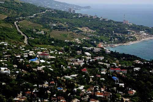 Посёлок Симеиз вид сверху