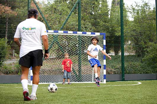 Площадка для игры в футбол