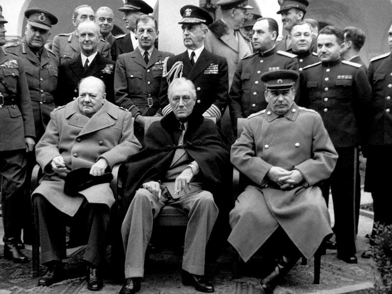Ялтинская конференция 1945 года- Сталин И.В. Рузвельт Ф.Д. Черчилль У.