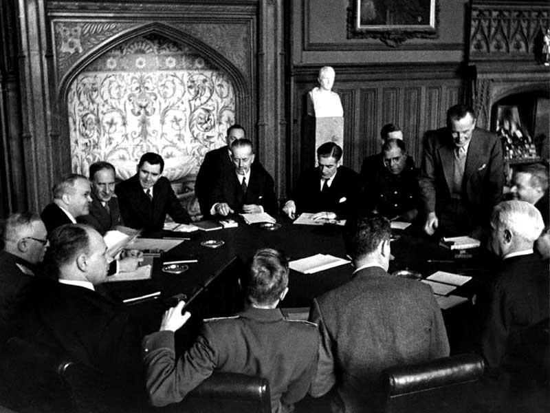 Заседание министров иностранных дел на Крымская (Ялтинская) конференция 1945 г.
