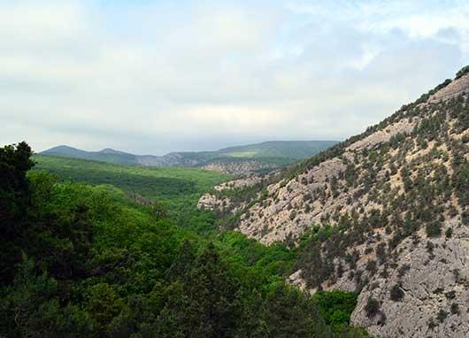 Вид каньона
