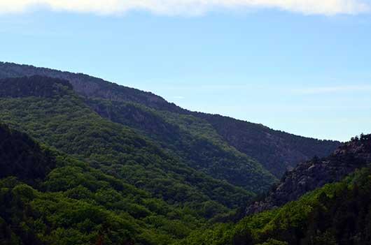Вид Чернореченского каньона