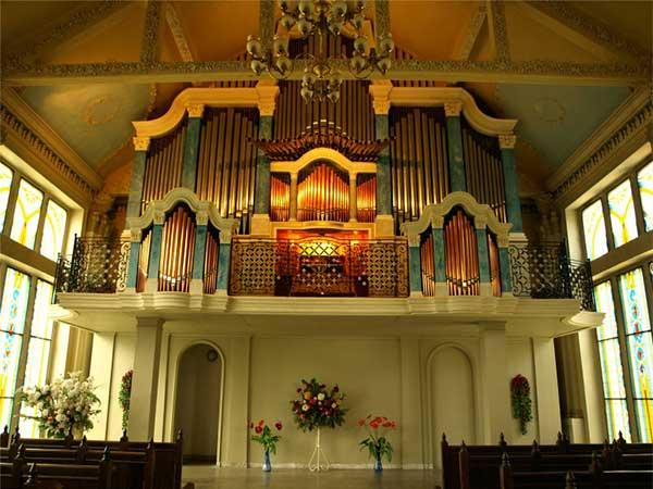 Вид органного зала внутри