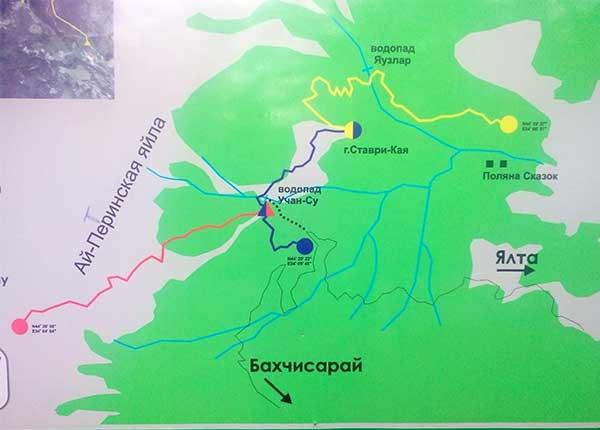 Карта маршрутов Боткинской тропы