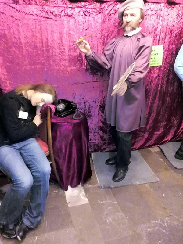 Илья Репин и спящий экскурсовод фото