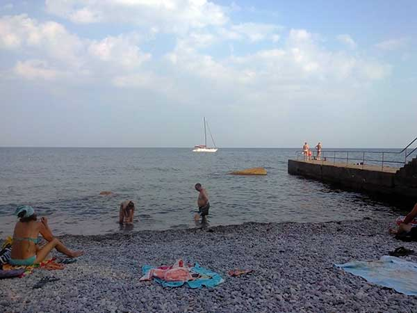 Пляж в Ай-Даниле