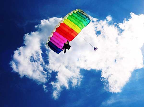 Прыжки с парашютом в Крыму фото