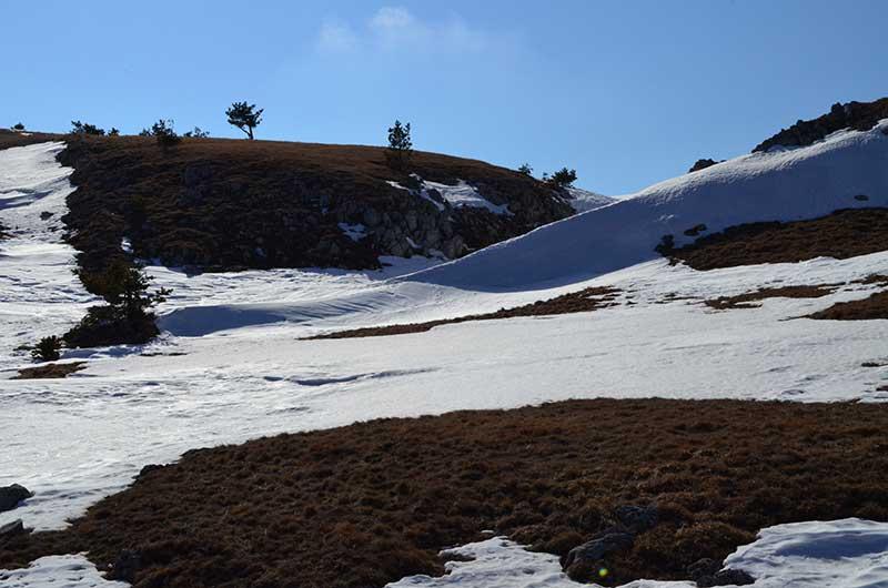 Снег на бабуган-Яйле
