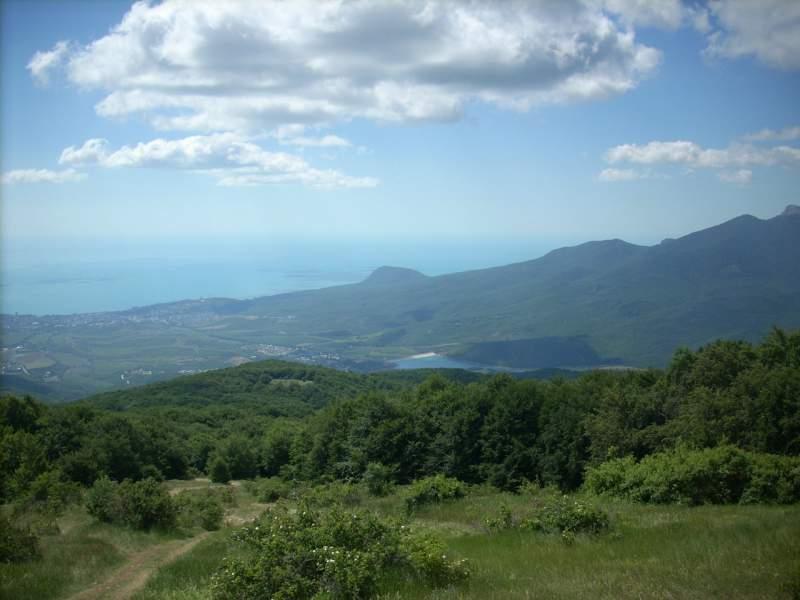 Красивый вид Южного берега Крыма