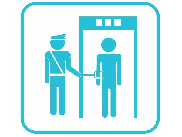 Проверка на наличие запрещённых предметов в аэропорту