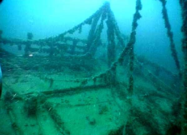 Затонувшие древние карабли