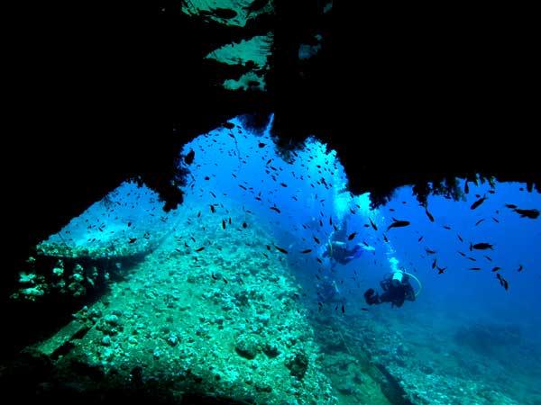 Погружение под воду мыс Тарханкут