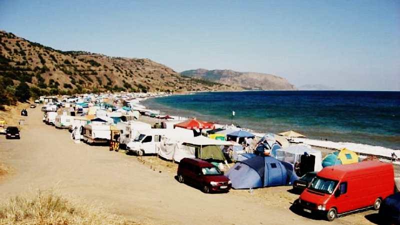 Автокемпинг в Крыму на берегу моря