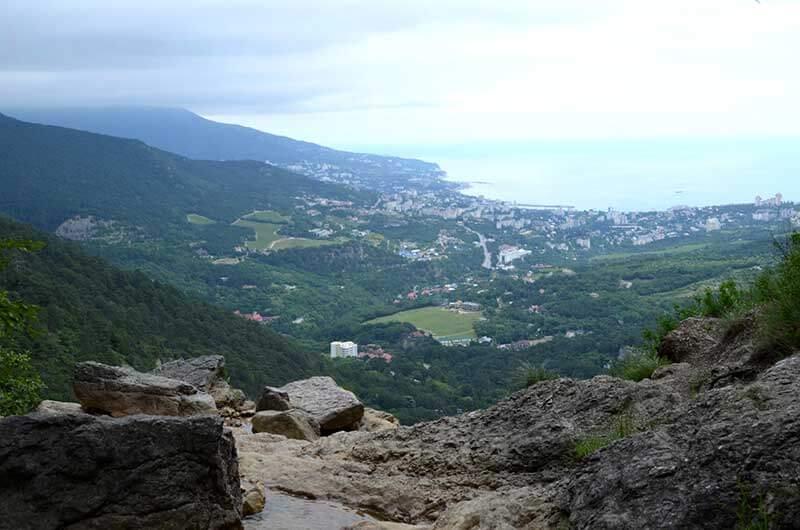Вид с гор на Ялту