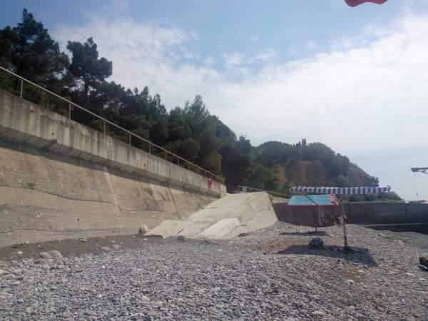 """Пляж бывшего санатория """"Черноморский"""""""