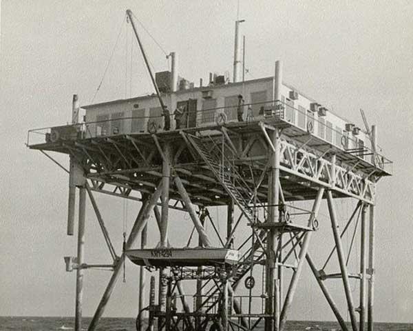Океанографическая платформа в Голубом Заливе 1980 год