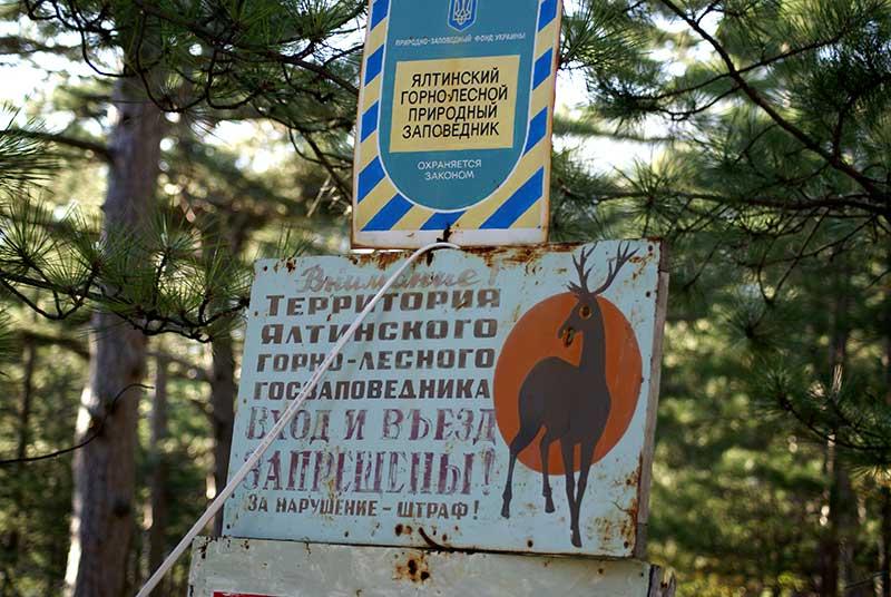 Ялтинский горно-лесной заповедник на Могаби