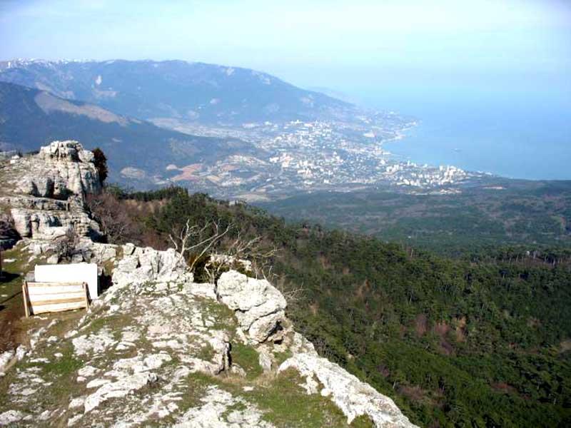Вид на Ялту - скала Шишко