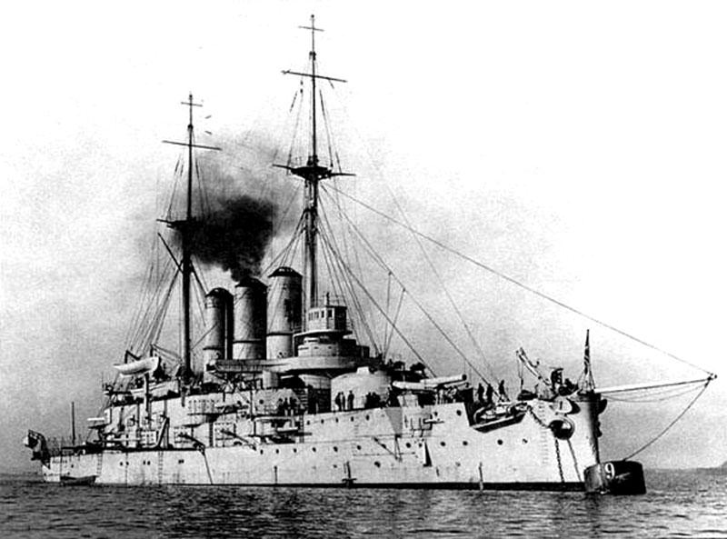 """Линейный корабль """"Евстафий"""" на рейде"""