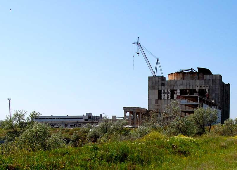 Недостроенная Крымская АЭС - Щёлкино