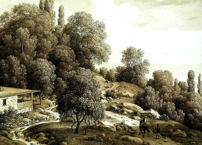 Вид Мухалатки, 1824 год.