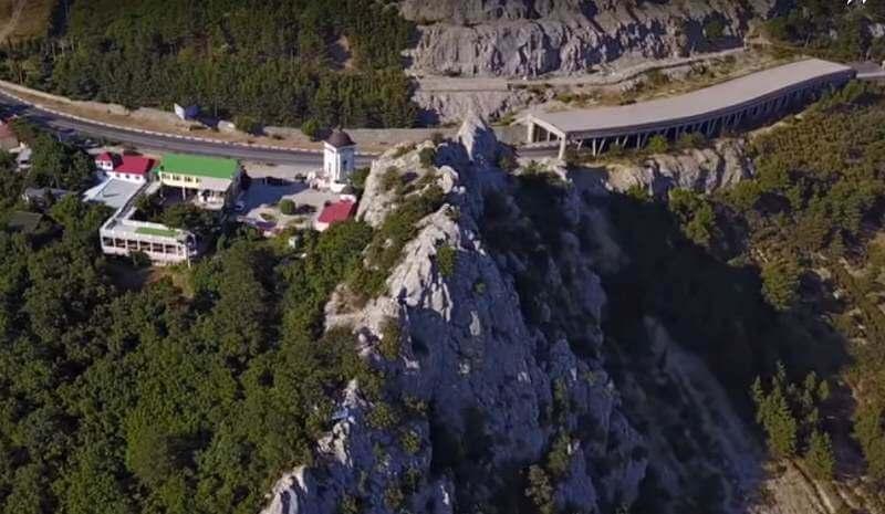 Ласпинский перевал- вид сверху