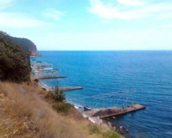 Вид на море с парка