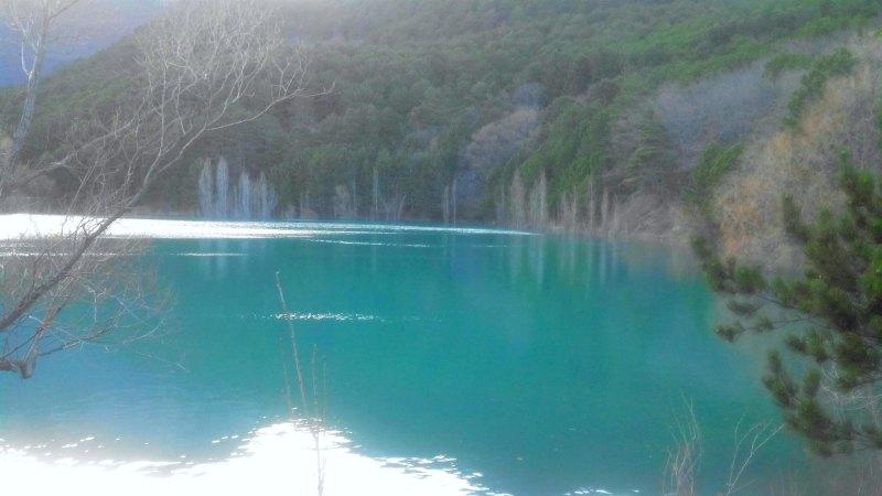 Вид бирюзового озера