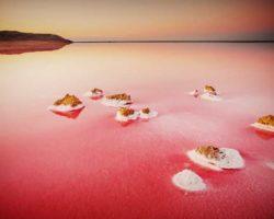 Кояшского соленое озеро