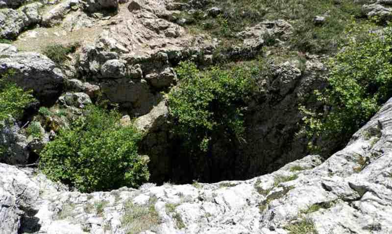 Вход в шахту Крубера